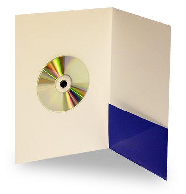 Folder with CD fixing dot
