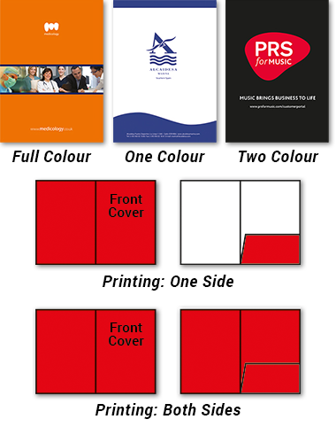 Folder printing colour options