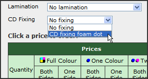 How to select the CD fixing option