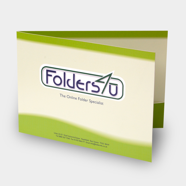 A4 landscape folder with glue-fixed pocket, code FA4LS_265