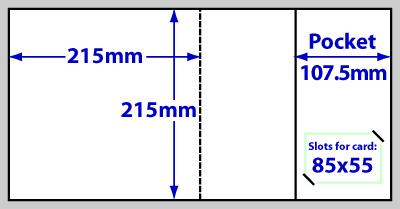 F215sq_237 215mm square folder diagram