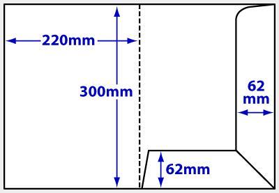 Diagram of product FA4i_9 A4 interlocking folder