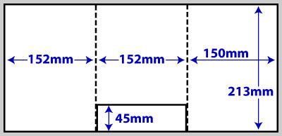 Diagram of product FA5_6p_459, A5 6pp folder