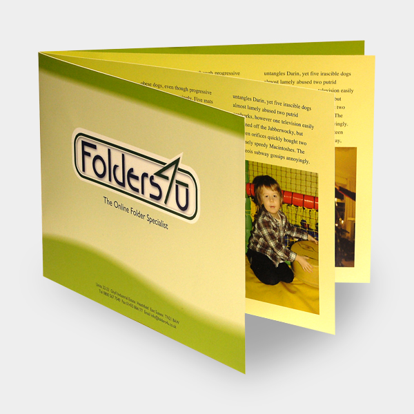8pp A4 landscape folder brochure
