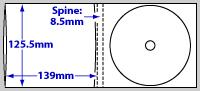diagram of Digipak Printing - 4 panel 1 disc (CD or DVD)
