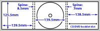 diagram of Digipak Printing - 6 panel 1 disc (CD or DVD)