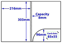 diagram of A4 Round Pocket 8mm Capacity Folder