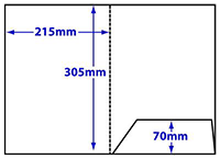 diagram of A4 loose flap folder