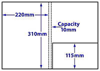diagram of A4 10mm capacity folder