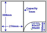 diagram of A4 Round Pocket 5mm capacity folder