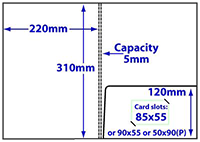 diagram of A4 5mm capacity folder with glue-fixed pocket