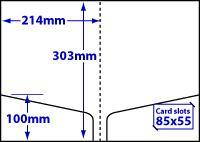 diagram of A4 Double Pocket Folder