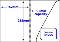 diagram of A5 Triangular pocket folder with 3.5mm capacity