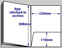 diagram of 12 page A4 Folder Brochure