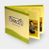 A4 landscape folder brochure